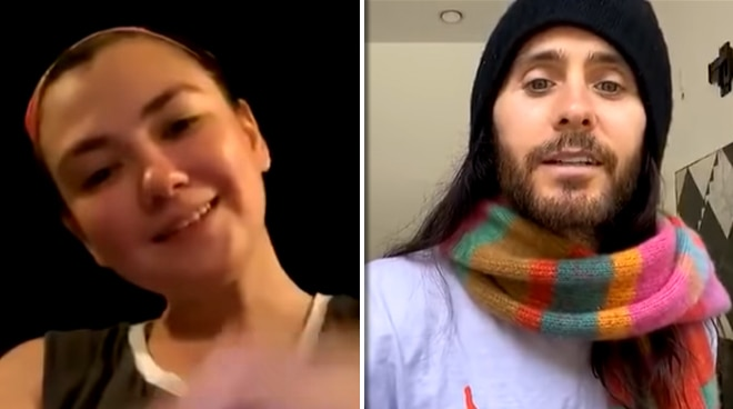 Hollywood actor Jared Leto chats with Angelica Panganiban: 'You have an interesting voice'