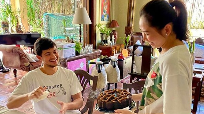 Matteo Guidicelli celebrates first birthday as a married man