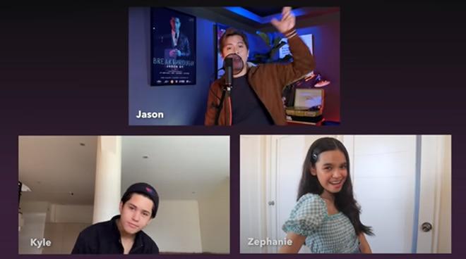 Jason Dy, Kyle Echarri, and Zephanie do a mashup of Sarah Geronimo songs