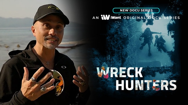 Host Ernie Lopez explores shipwrecks in the new iWant Original Docu series 'Wreck Hunters'