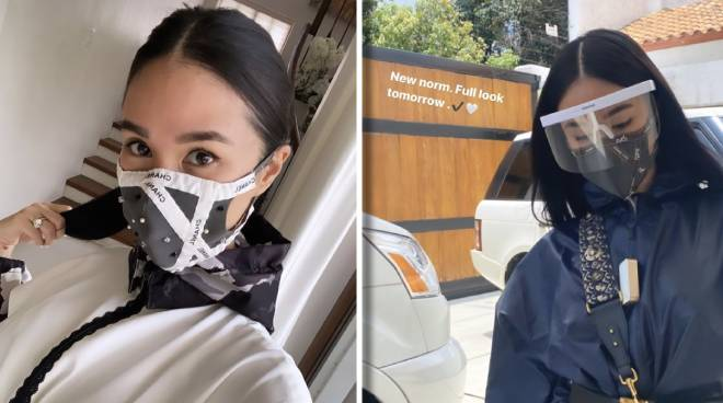 Fashown! Heart Evangelista wears DIY Chanel face mask, customized PPE