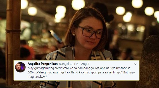 Angelica Panganiban discovers somebody spent 500,000 using her credit card