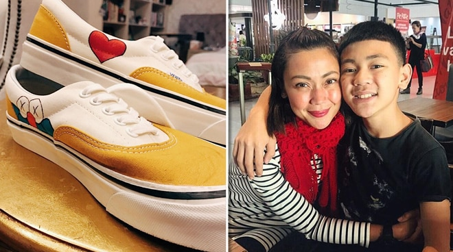 Future sneaker artist? Jodi Sta. Maria proudly shows off son Thirdy's 'wearable artwork'