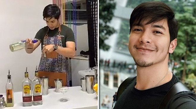 WATCH: Alden Richards show bartending skills