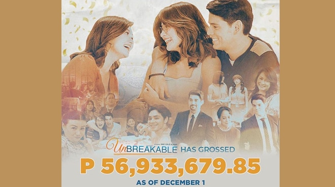 'Unbreakable' grosses P56M on first weekend run