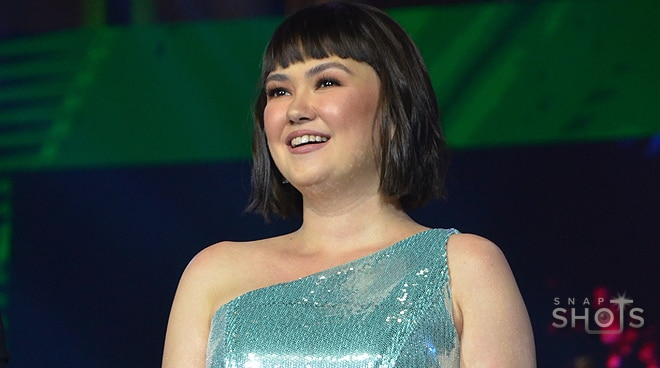 Angelica Panganiban glistens in a light blue gown at the Ms. Silka Grand Coronation Night