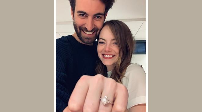 Hollywood star Emma Stone is engaged