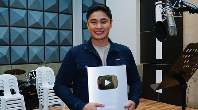 LOOK: Coco Martin shows off Silver Creator Award from YouTube