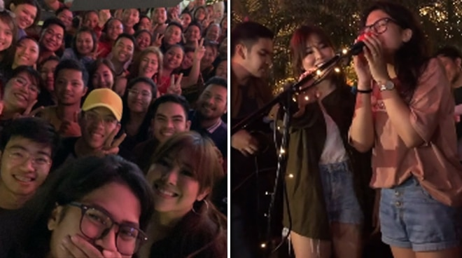 WATCH: Moira Dela Torre, husband surprise busker at a mall