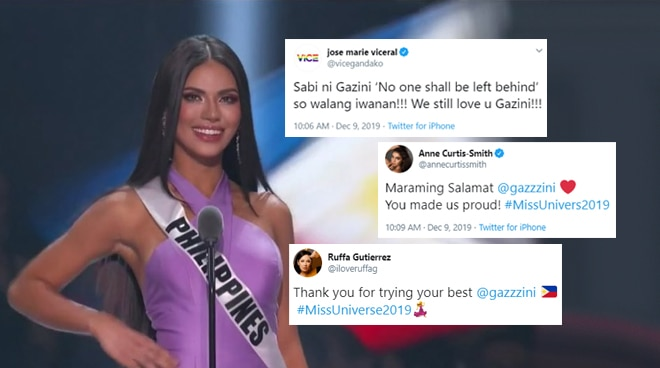 Celebrities, netizens react to Gazini Ganados' loss in Miss Universe