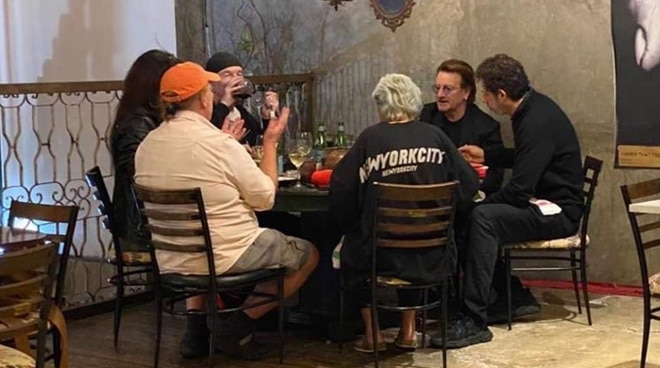 LOOK: U2's Bono, The Edge spotted dining in Makati