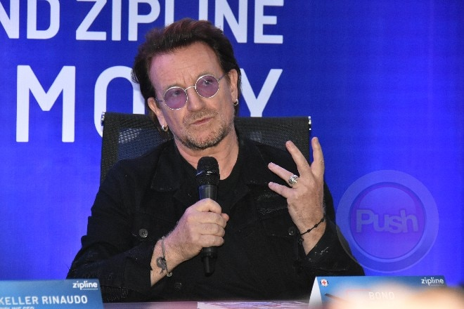 U2 hit singer Bono was in the country for a concert.