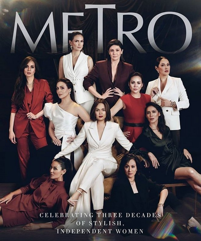 30 female stars from different generations came together to pose for a local magazine.