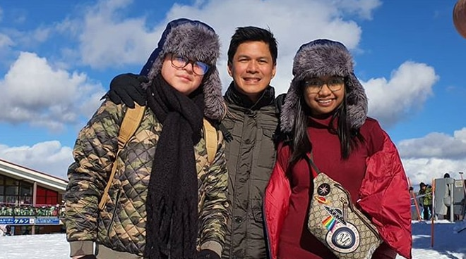 LOOK: Raymart Santiago with his and Claudine Barreto's kids in Japan