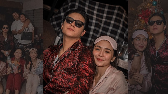 SEE: Scenes from KathNiel and squad's slumber-themed Christmas party