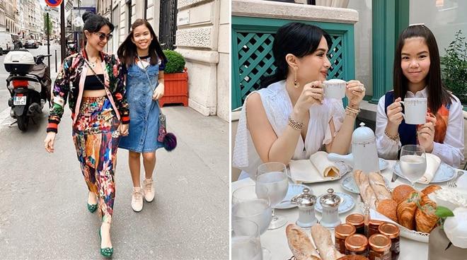 Heart Evangelista brings stepdaughter Chesi Escudero to Paris Fashion Week