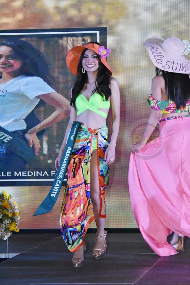 The candidates of the Miss Earth PH competed in the swimsuit/beach wear round of the competition.