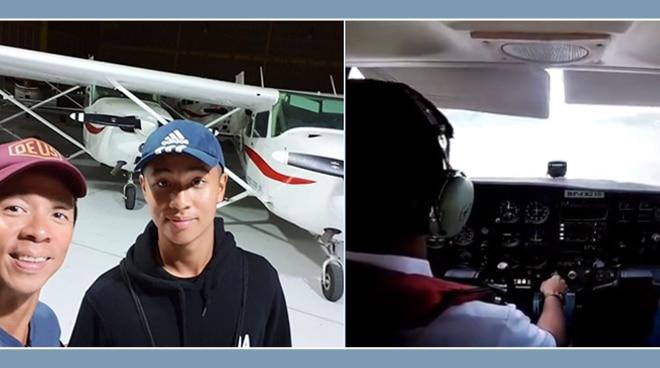 Kim Atienza's son accomplishes first solo flight
