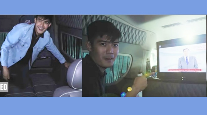 Wow! Robi Domingo's car has a convertible bed and customized TV